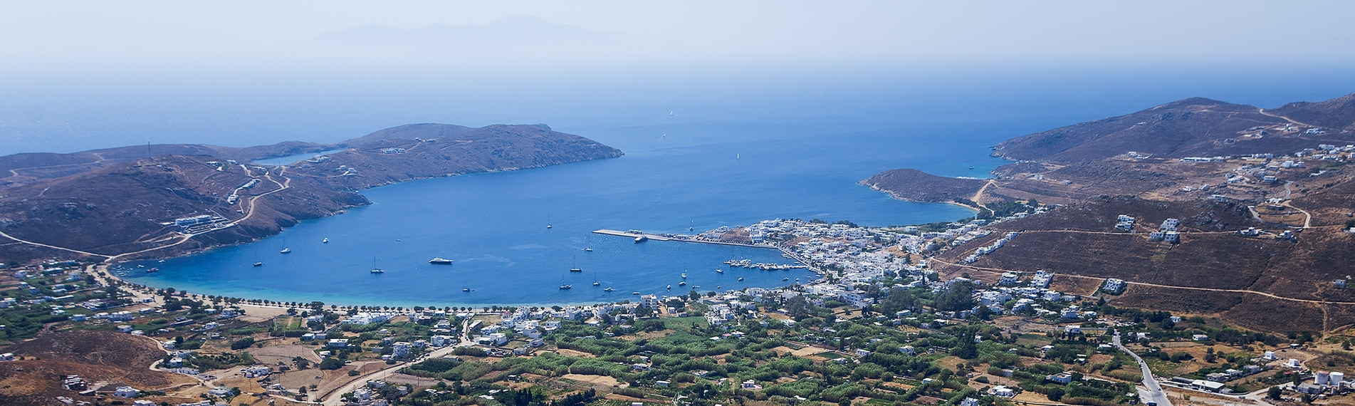 View of the Gulf of Serifos in the Cyclades islands