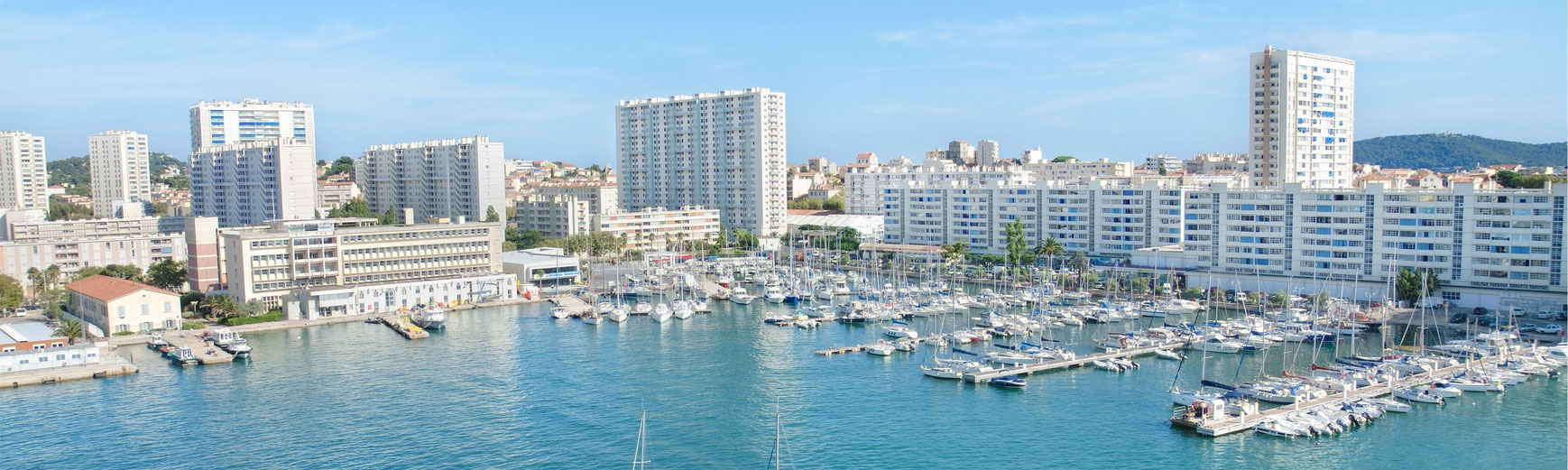 Toulon, France, view of the harbor
