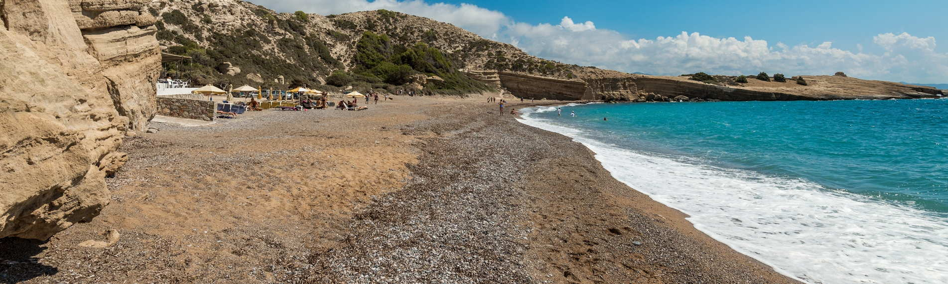 A Sandy beach on the island of Fourni in the North East Aegean