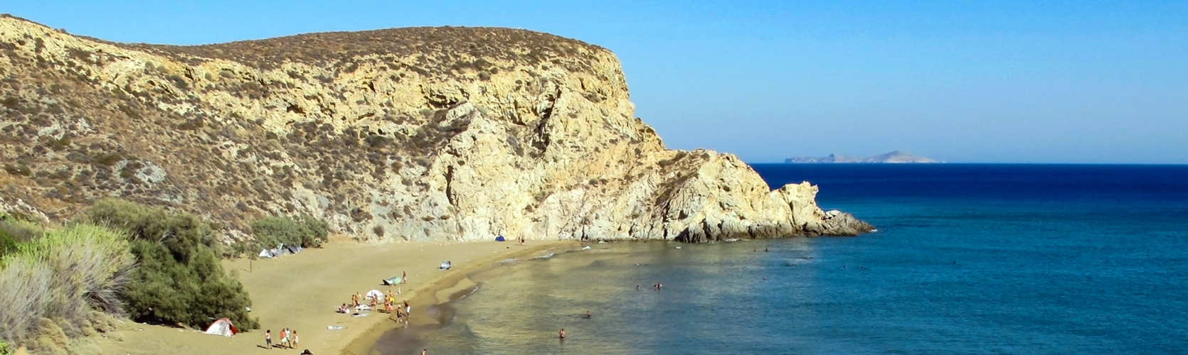 Anafi beach in the Cyclades