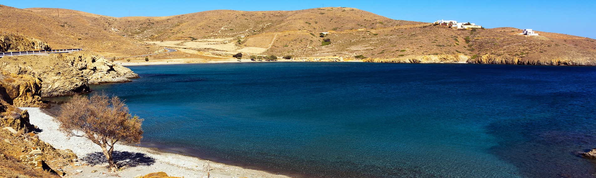 A beach on Astypalea, in the Dodecanese archipelago.